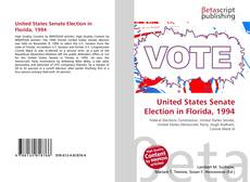 Bookcover of United States Senate Election in Florida, 1994