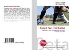 Portada del libro de Robert Paul (Footballer)