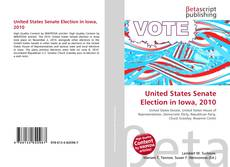 Capa do livro de United States Senate Election in Iowa, 2010