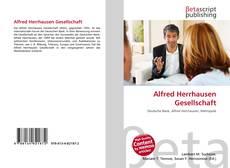 Capa do livro de Alfred Herrhausen Gesellschaft