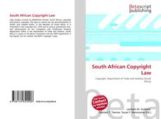 Bookcover of South African Copyright Law