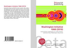 Bookcover of Washington Initiative 1068 (2010)