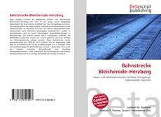 Buchcover von Bahnstrecke Bleicherode–Herzberg