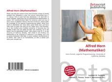 Portada del libro de Alfred Horn (Mathematiker)