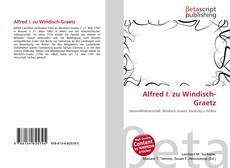 Buchcover von Alfred I. zu Windisch-Graetz