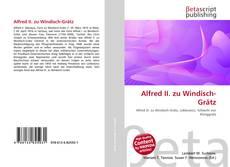 Buchcover von Alfred II. zu Windisch-Grätz