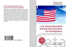 Capa do livro de U.S. Senate Homeland Security Subcommittee on Investigations