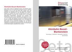 Buchcover von Kleinbahn Bossel–Blankenstein