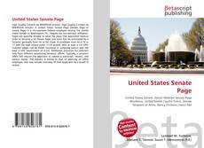 Bookcover of United States Senate Page