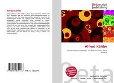 Bookcover of Alfred Kähler