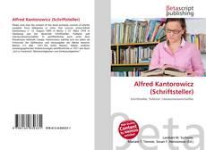 Bookcover of Alfred Kantorowicz (Schriftsteller)