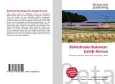 Bahnstrecke Bukarest–Galaţi–Roman kitap kapağı