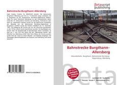 Capa do livro de Bahnstrecke Burgthann–Allersberg