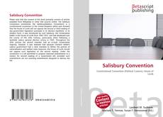 Bookcover of Salisbury Convention