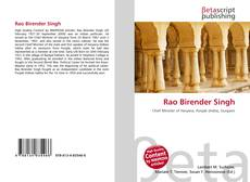 Bookcover of Rao Birender Singh