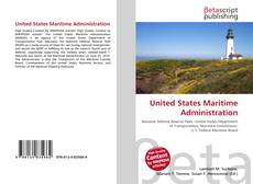 Bookcover of United States Maritime Administration
