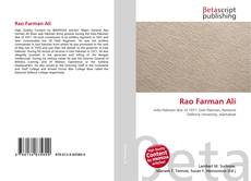 Bookcover of Rao Farman Ali