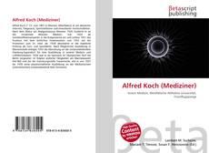 Portada del libro de Alfred Koch (Mediziner)