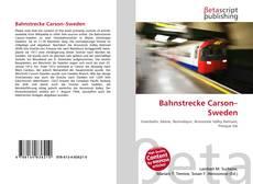 Bookcover of Bahnstrecke Carson–Sweden