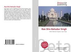 Bookcover of Rao Shiv Bahadur Singh
