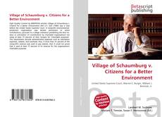 Capa do livro de Village of Schaumburg v. Citizens for a Better Environment
