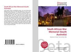 Обложка South African War Memorial (South Australia)