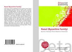 Обложка Raoul (Byzantine Family)