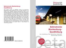 Capa do livro de Bahnstrecke Blankenburg–Quedlinburg