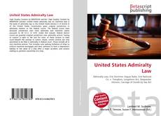 Couverture de United States Admiralty Law