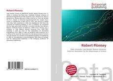 Bookcover of Robert Plonsey
