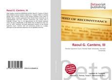 Portada del libro de Raoul G. Cantero, III