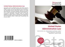 Bookcover of United States Administrative Law