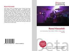Portada del libro de Raoul Koczalski