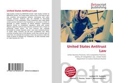 Bookcover of United States Antitrust Law