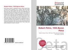Bookcover of Robert Petre, 10th Baron Petre