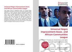 Обложка Universal Negro Improvement Assoc. and African Communities League