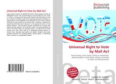 Обложка Universal Right to Vote by Mail Act