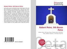 Portada del libro de Robert Petre, 9th Baron Petre