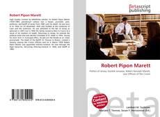Portada del libro de Robert Pipon Marett