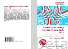 Capa do livro de United States Senate Election in New York, 2010