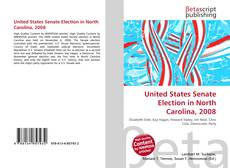 Capa do livro de United States Senate Election in North Carolina, 2008