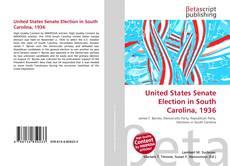 Capa do livro de United States Senate Election in South Carolina, 1936
