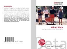 Alfred Rieck kitap kapağı