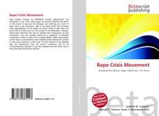 Capa do livro de Rape Crisis Movement