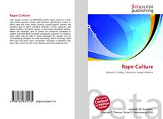 Buchcover von Rape Culture