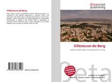 Capa do livro de Villeneuve-de-Berg