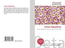 Lilium Nepalense kitap kapağı