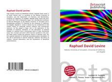 Raphael David Levine kitap kapağı