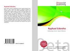 Raphael Edereho kitap kapağı