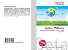 Bookcover of Raphael Maltinsky